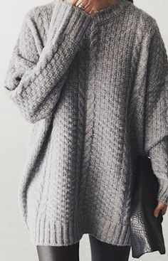 Grey + Sweater + Style