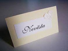 Výsledek obrázku pro originální jmenovky na svatební stůl