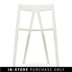 stack-away chair  white