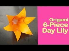 This video is about Origami Modular Six-Piece Day Lily Exotic Flowers, Purple Flowers, Yellow Roses, Pink Roses, Origami 6 Petal Flower, Fabric Paper, Paper Art, Paper Flower Arrangements, Peonies Garden