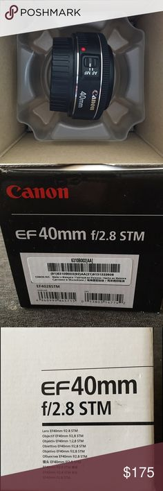 Canon Camera lens: EF 40 mm f/2.8 STM Brand new and never used! Feel free to make an offer!  Canon Other