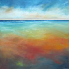 Cool Hot Beach oil on linen 36x36 $1500