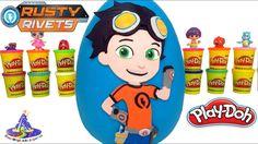 Huevo Sorpresa Gigante de Rusty Rivets de Plastilina Play Doh en Español
