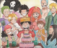 5.30.16 YAAASSSS! Finally finished before then end of May! I'm so glad that I can draw so many wonderful character's in one picture and Happy Birthday again, Luffy!