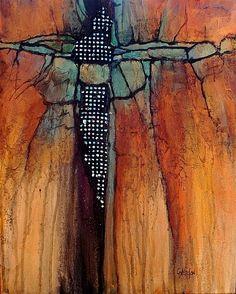 """""""DIAMOND MINE"""" 11017 by Carol Nelson Acrylic ~ 20 x 16"""