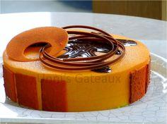 Orange Cointreau Parfait, Dark chocolate Ganache, Sour cherry jelly with dark sponge crisp