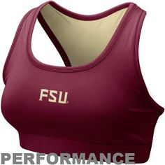9ca7b8c52e4c0 Nike Florida State Seminoles (FSU) Ladies Garnet Performance Sports Bra
