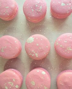 Pink and silver macarons