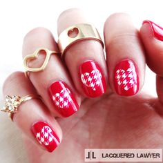 This #ValentinesDay #mani is adorable with patchwork hearts. @lacqueredlawyer
