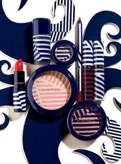 HILLARY LOOK! MAC makeup in nautical print!! lol
