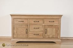 View All: Sideboards & cabinets available in many sizes & wood such as oak, pine & walnut. Dining Room Table Decor, Oak Sideboard, Bordeaux, Boards, Table Decorations, Cabinet, Storage, Wood, Furniture