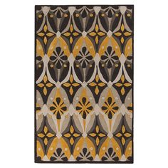 Hand-tufted rug with a geometric motif.  Product: RugConstruction Material: PolyesterColor: Feat...