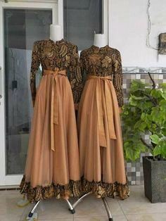 Dress Brukat, Long Gown Dress, Dress Outfits, Model Dress Batik, Batik Dress, Stylish Dresses For Girls, Dress Clothes For Women, Dress Batik Kombinasi, Muslim Fashion