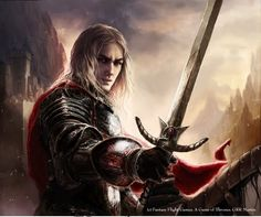 Rhaegar Targaryen by Paintmaster1 (Edit of Jaime Lannister by Magali Villenueve)