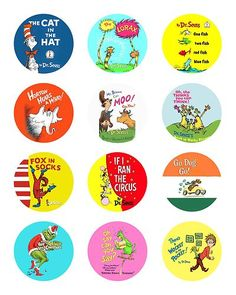 CUSTOMIZED Dr Seuss Lorax Cat in the Hat Grinch Book Edible Cupcake Topper Image