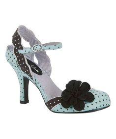 Another great find on #zulily! Mint & Black Heidi Floral-Accent Pump #zulilyfinds