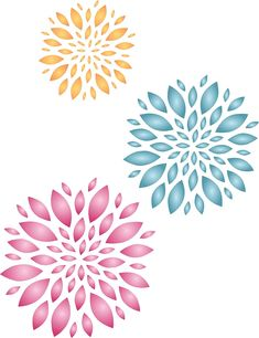 Fabrics and More/… Use on Walls Floors - Reusable Fun Kids Allover Flower Stencils for Painting S 4.5 x 4.5 inch Glass Wild Flowers Stencil Wood