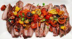 Italian Flank Steak with Roasted Tomatoes