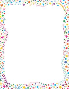 Free confetti border templates including printable border paper and clip art versions. File formats include GIF, JPG, PDF, and PNG. Vector images are also available. Borders Free, Page Borders, Borders For Paper, Borders And Frames, Printable Border, Printable Labels, Free Printable, Printables, School Border
