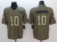 Nike 49ers 10 Jimmy Garoppolo Olive Camo Salute To Service Limited Jersey  Salute To Service 0d22cdc89