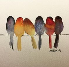 New Ideas easy watercolor art projects Watercolor Art, Colorful Art, Art Painting, Art Drawings, Drawings, Art, Bird Drawings, Watercolor Bird, Watercolor Paintings Easy