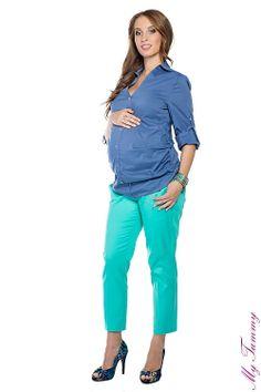 Koszula ciążowa niebieska