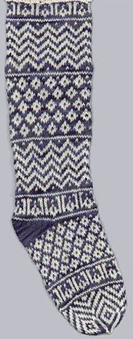 Dar Anahita: Medieval Egyptian Knitting - Sock from the Textile Museum The oldest surviving knitted socks exhibit some sophistication, with stranded knit polychrome patterns, worked at a gauge of around 12 stitches/10 rows per inch. All were knitted from the toe up of cotton. Both heel shaping and toe formation are created in a variety ways