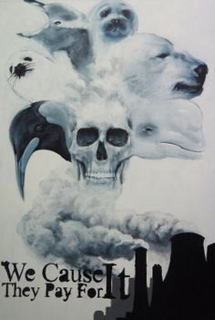 Global Warming poster, that I painted it with acrylic on canvas. Save Environment Posters, Save Environment Poster Drawing, Global Warming Poster, Global Warming Drawing, Pollution Environment, Air Pollution, Environmental Posters, Drawing Competition, Protest Posters