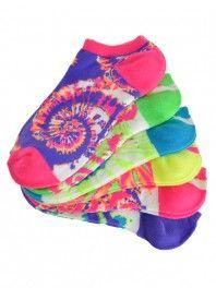 Hibbett Tie Dye Neon Socks want these! Tie Dye Socks, Getting Back In Shape, Colorful Socks, New You, Cool Socks, 6 Packs, Shoe Boots, Underwear, Footwear