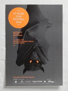St KILDA FILM FESTIVAL poster designed by StudioBrave