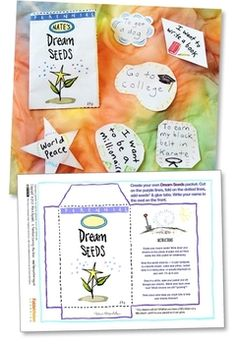 """Inspire students to dream about the possible - think about a positive future - I designed """"Grow Your Dreams!"""" Printable Packet as part of the tasty """"Learnables"""" from the FableVision Learning collection."""