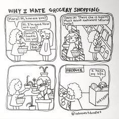 Introvert goes grocery shopping...