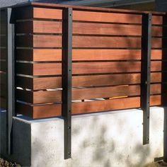 Top 60 Best Modern Fence Ideas - Contemporary Outdoor Designs Concrete Metal And Wood Good Ideas For Modern Wood Fence, Wood Fence Design, Modern Fence Design, Privacy Fence Designs, Concrete Design, Privacy Fence Decorations, Backyard Privacy, Backyard Fences, Backyard Landscaping