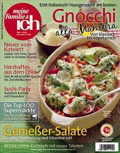 meine Familie & ich: 1/2014  Gnocchi von klassisch bis vegetarisch / Sushi-Party / Genießer-Salate  burdafood.net/Eising Studio – Food Photo & Video, Martina Görlach  http://www.burda-foodshop.de/Einzelhefte/Einzel-meine-Familie-ich/