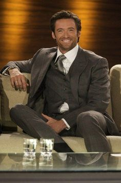 I love me some Hugh! Hugh Jackman, Hugh Michael Jackman, Pretty Men, Gorgeous Men, Beautiful People, X Men, Hugh Wolverine, Sharp Dressed Man, Good Looking Men