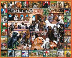 loveable pets collection jigsaw puzzle 1000 pieces