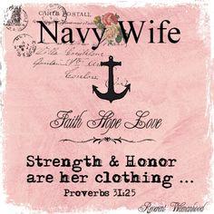 Navy Wife I Love my Sailor!