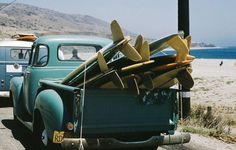 Habitually Chic®: Surfs Up - cool old truck with some cool old boards