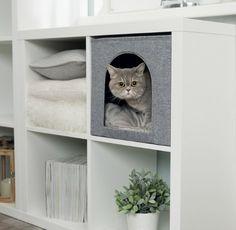 Cat cave Ella grå (passar Expedit och Kallax)