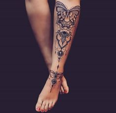I've never seen just a shin tattoo!!! Love it!!! Would hurt though