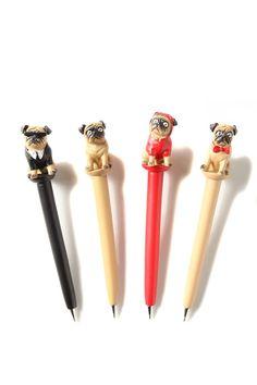 novelty pen set, PUGS