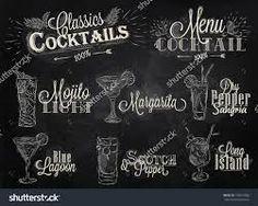Image result for  chalkboard cocktail signs
