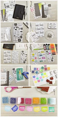 Happiness is Scrappy: Planners | How To Make Your Own Rainbow Divider Tabs