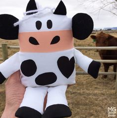 """Let's have a Cow!""  is a fun sewing project by Michelle M. Goggins.  Get the book at Amazon.com!"