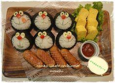 Doraemon Kyaraben, Onigiri Rice Balls Bento Lunch