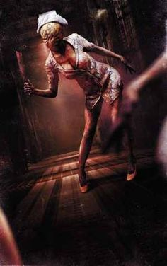 Silent Hill-Love these nurses. Thinking this is my 2014 Halloween Costume.