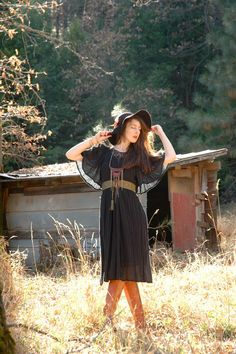 Free Size... Greek Cotton Maxidress... Witchy Vintage Dress... 1970s Style... by AstralBoutique, $58.00