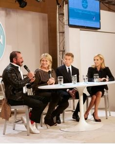 Here I am with fashion panelists Ralph Rucci, Calvin Klein, and Tory Burch discussing the secrets to their success.