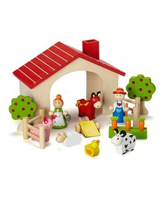 Another great find on #zulily! Rosalina Wooden Farm Play Set by Rosalina #zulilyfinds