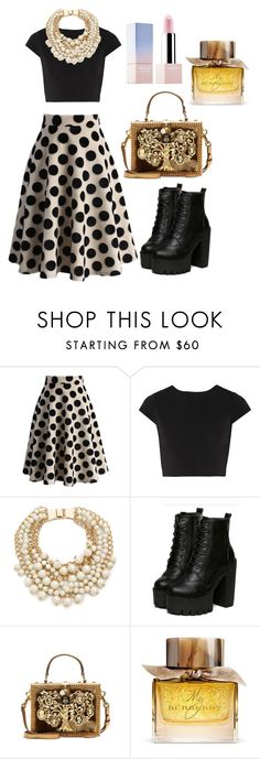 """Untitled #81"" by rosemaryon on Polyvore featuring Chicwish, Alice + Olivia, Kate Spade, Dolce&Gabbana, Burberry and Sephora Collection"